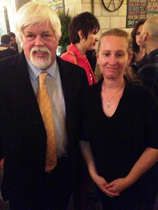 With Captain Paul Watson at Sage after the premiere of the movie.