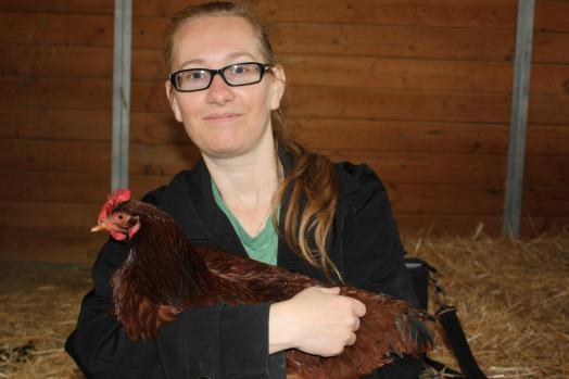 Avec Chloé à Gentle Barn (2013)