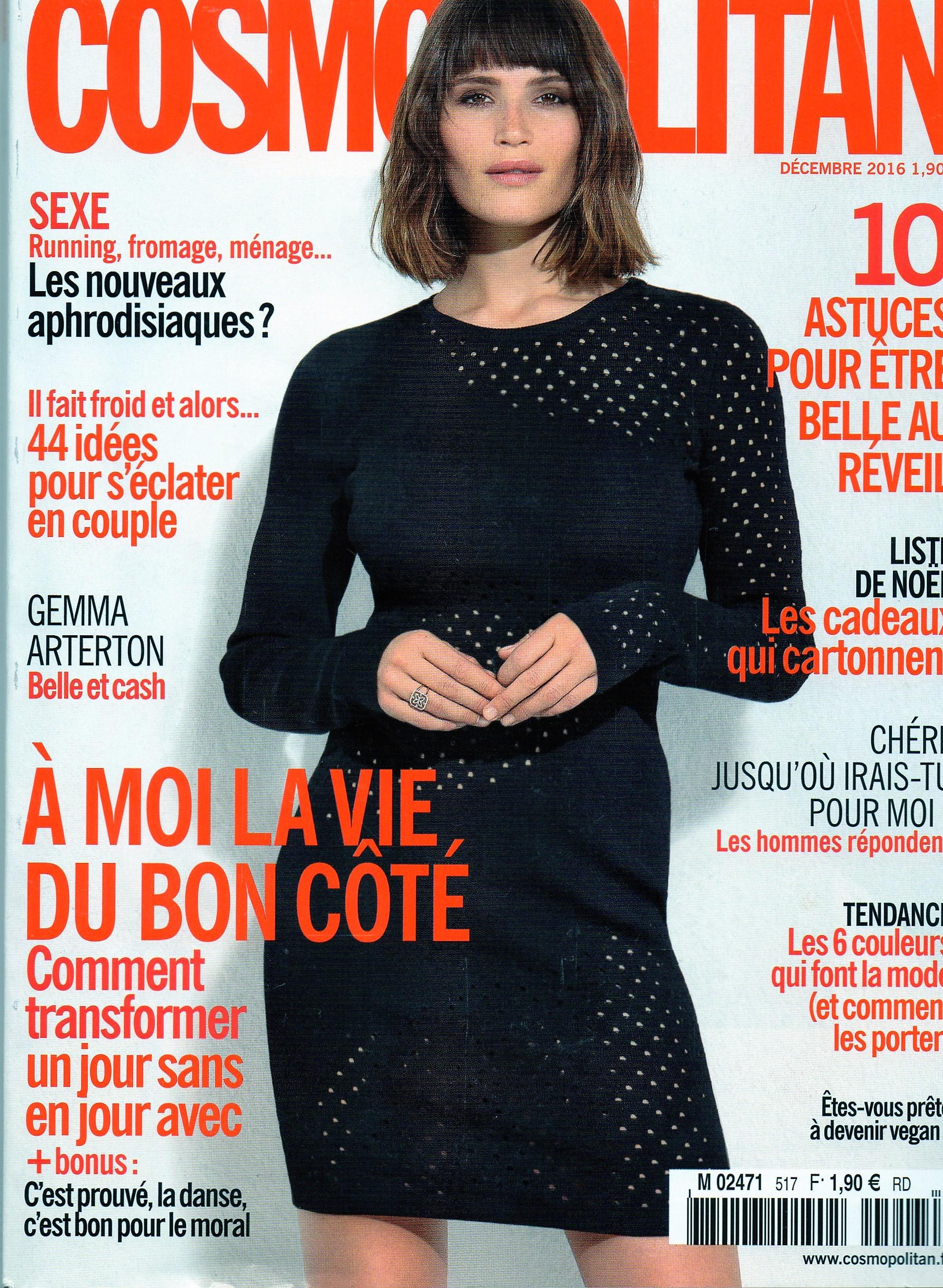 Cosmopolitan Decembre 2016 Cover